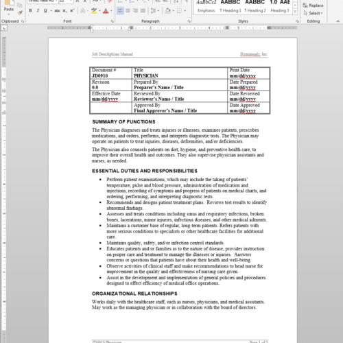 medical office assistant procedure manual
