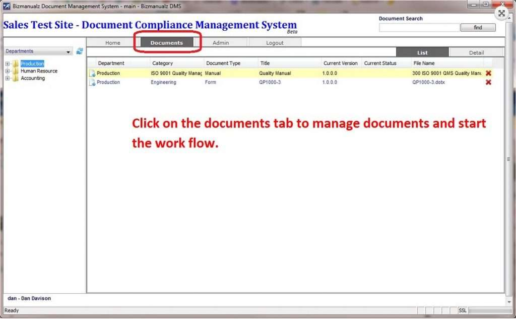 OnPolicy manage documents