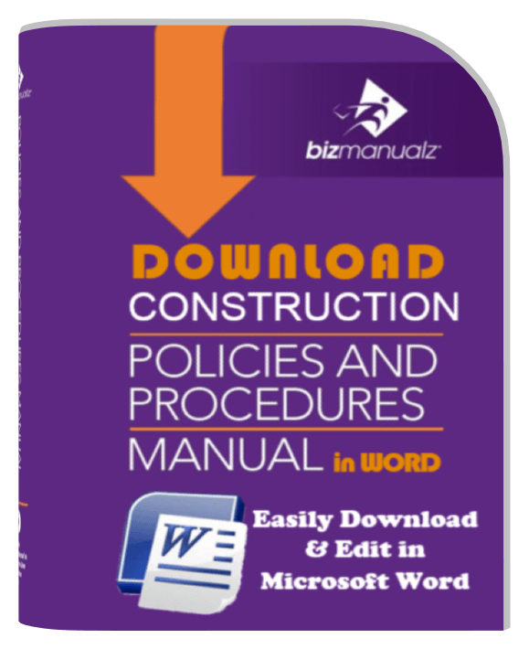 Writing Policies And Procedures Template Construction Company Policies And Procedures Manual Template