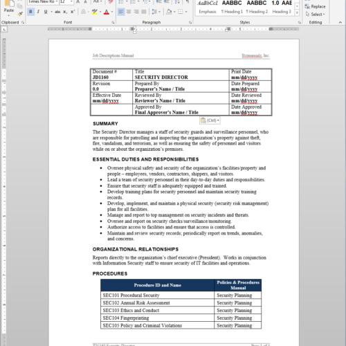 security guard job description pdf