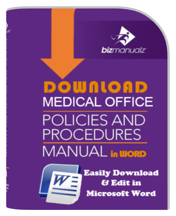 Medical Office Policies And Procedures Manual  Free Office Procedures Manual Template