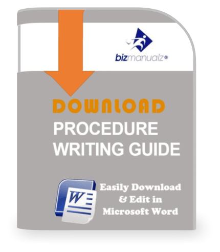 how to write a manual sample