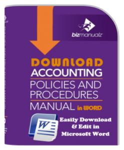 Accounting Policy Procedure Manual MS-Word Template