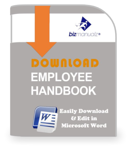Employee Handbook Employee Manual BizManualz - Employee handbook template word
