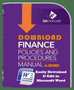 Policies and procedures manual templates bizmanualz for Finance sop template