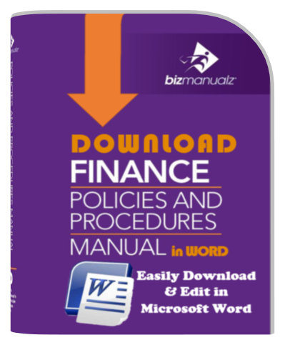 finance policies procedures manual template finance policy manual