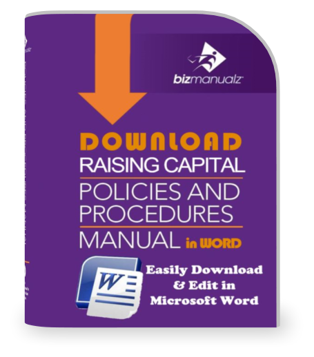 Raising Capital Policies and Procedures Manual