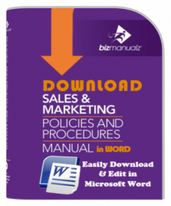 Sales Marketing Policy Procedure Manual