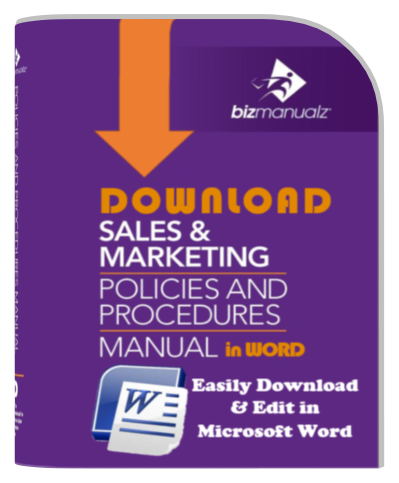 Sales Marketing Policy Procedure Manual Template