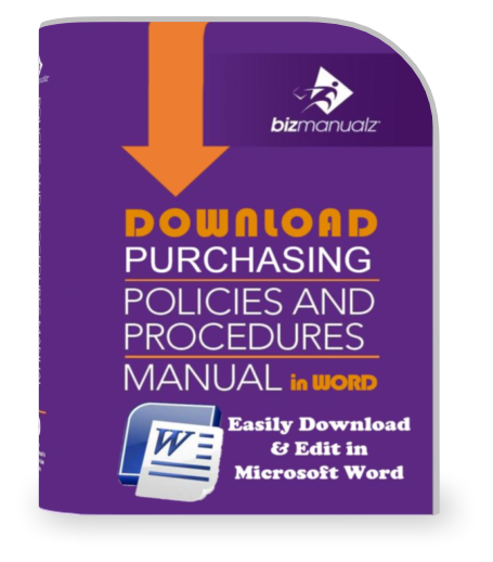 purchasing manual template - purchasing policies and procedures template accounts payable