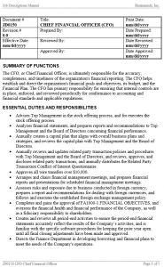 Writing Job Descriptions - CFO Example