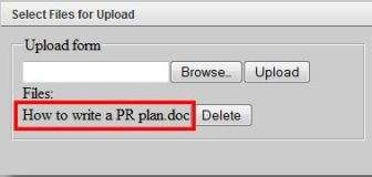 Select Files Upload onpolicy